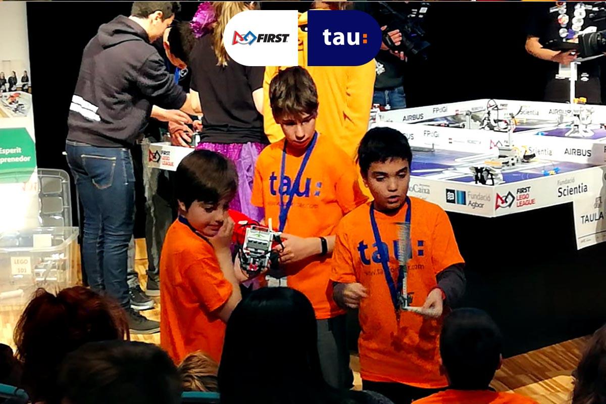 Dídac de Tau en la First Lego League