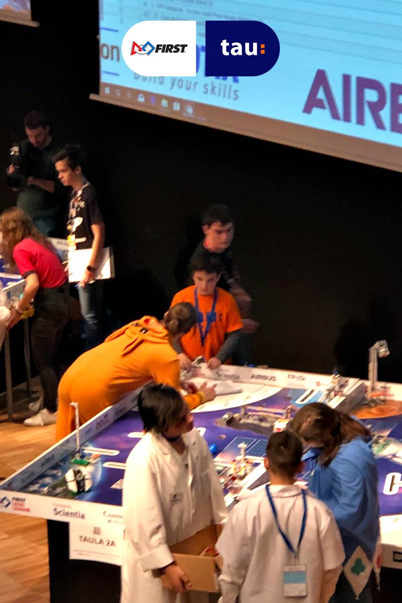 First Lego League Into Orbit en Barcelona con Tau Formar