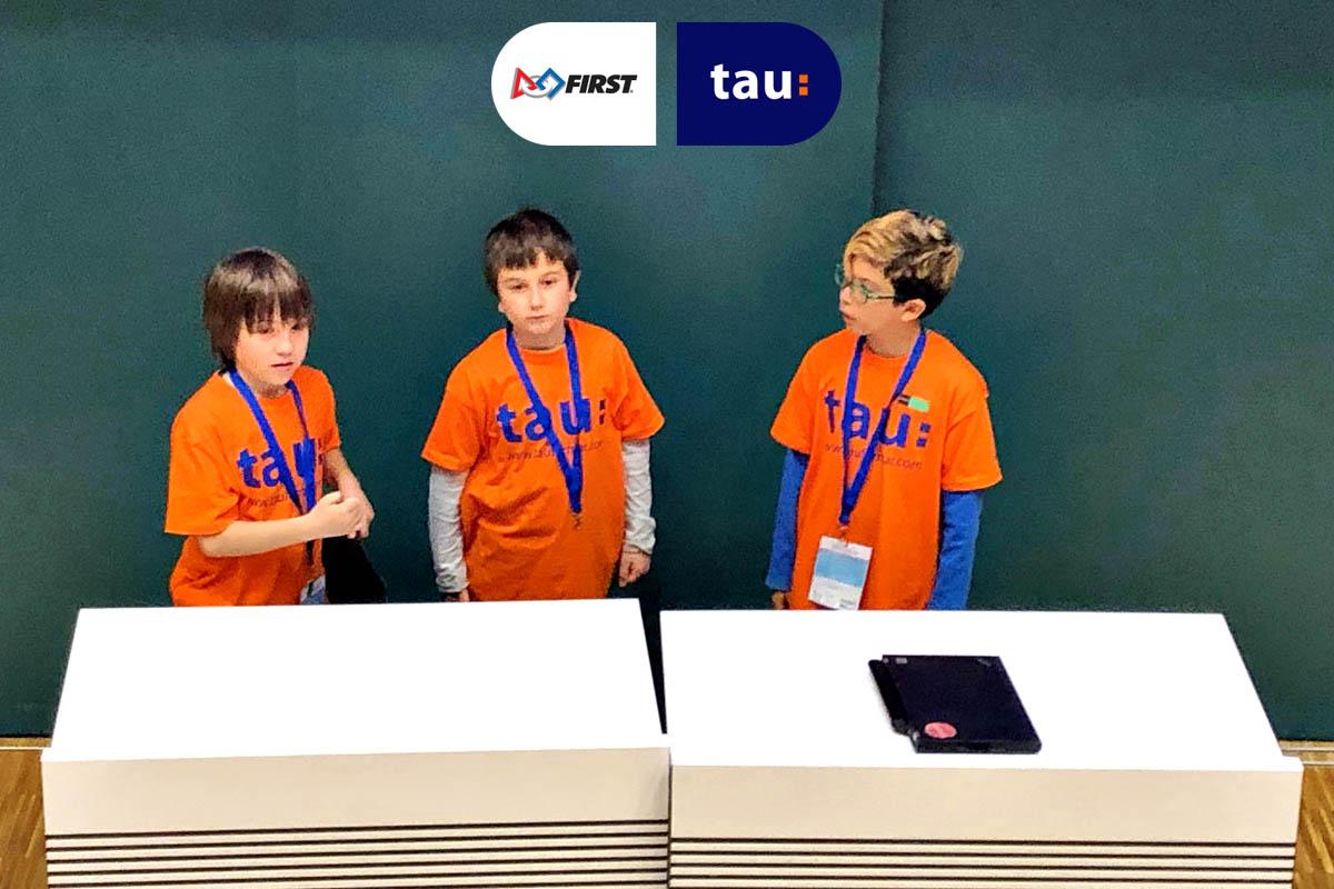 actividad extraescolar de robótica en la First Lego League - Tau Formar