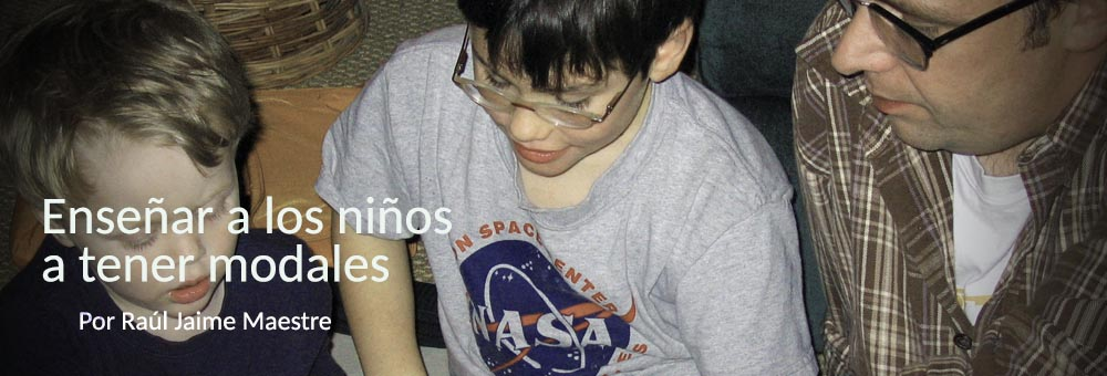 Enseñar a los niños a tener modales